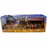Country Life Horse Stable Rancher Corral with Accessories NewRay 1:32 Scale