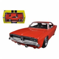 1969 Dodge Charger R/T Orange 1/25 Diecast Car Model by New Ray - 1
