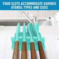 Utensil Rest w/ Drip Pad (Silicone) - Red - 1