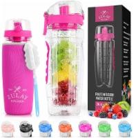 Water Bottle, Fruit Infuser - [34 oz] Tango Pink