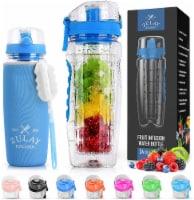 Water Bottle, Fruit Infuser - [34 oz] Ocean Blue