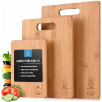 Bamboo Wooden Cutting Boards For Kitchen Premium 3 Assorted Sizes Wood Cooking Serving