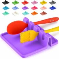 Utensil Rest w/ Drip Pad (Silicone) - Lavender - 1