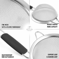 Strainer with Handle, 3 Pack, SS - Red - 1