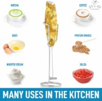 Zulay Kitchen Milk Frother Handheld Foam Maker With Upgraded Holster Stand - 1