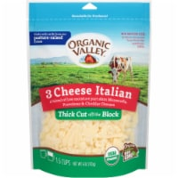 Organic Valley 3 Cheese Organic Thick Cut Shredded Italian Cheese Blend
