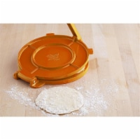 IMUSA Cast Aluminum Tortilla Press - Orange
