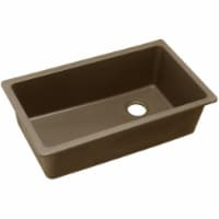 Elkay ELGU13322MC0 33 x 18.7 x 9.5 in. Quartz Classic Single Bowl Undermount Sink - Mocha