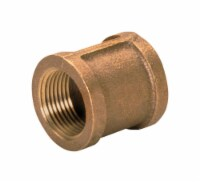 JMF 1/8 in. FPT  x 1/8 in. Dia. FPT Brass Coupling - Case Of: 5; Each Pack Qty: 1; - Case of: 5