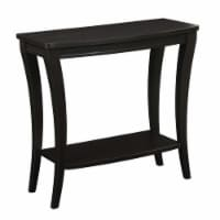 Convenience Concepts Newport Console Table with Shelf in Espresso Wood Finish - 1