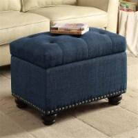Convenience Concepts Designs4Comfort Storage Ottoman in Blue Fabric - 1