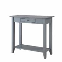 Convenience Concepts American Heritage Console Table in Gray Wood Finish - 1