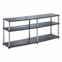 Convenience Concepts Designs2Go 60  3 Tier TV Stand in Black Wood Finish - 1