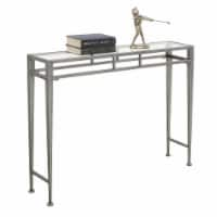 Convenience Concepts Gold Coast Julia Hall Console Table in Silver Metal Frame - 1