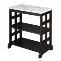 Convenience Concepts American Heritage Baldwin Chairside Table in Black Wood - 1