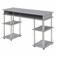 Convenience Concepts Designs2Go No Tools Student Desk in Light Gray Wood Finish - 1