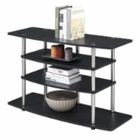 Convenience Concepts Designs2Go No-Tools Wide Highboy 32  TV Stand in Black Wood - 1