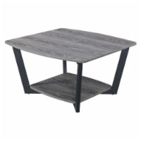 Convenience Concepts Graystone Square Coffee Table in Driftwood Gray Wood Finish - 1