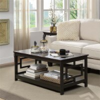 Convenience Concepts Town Square Coffee Table in Espresso Wood Finish - 1