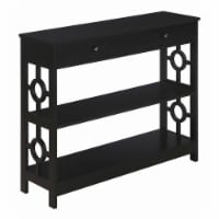Convenience Concepts Ring 1 Drawer Console Table in Black Wood Finish - 1