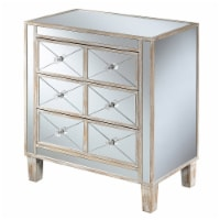 Gold Coast BettyB Mirrored Glass End Table in Gold Wood Finish - 1