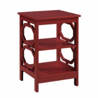 Convenience Concepts Omega End Table in Cranberry Red Wood Finish - 1