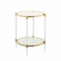 Royal Crest Acrylic Glass End Table - 1