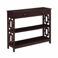 Convenience Concepts Town Square One-Drawer Console Table- Espresso Wood Finish - 1