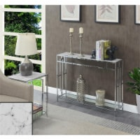 Town Square Chrome Console Table - 1