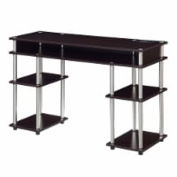 Designs2Go No Tools Student Desk with Charging Station in Espresso Wood Finish - 1