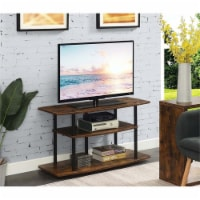 Convenience Concepts Designs2Go Three-Tier Wide TV Stand in Nutmeg Wood Finish - 1