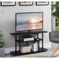 Convenience Concepts Designs2Go Three-Tier Wide TV Stand in Black Wood Finish - 1