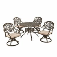 Capri Brown Aluminum 5 Piece Outdoor Dining Set - 1