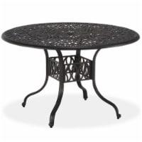 Capri Gray Aluminum Outdoor Dining Table