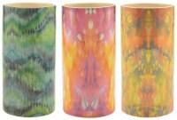 Round Tie Dye Ceramic Assorted Vase