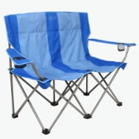 Kamp-Rite Outdoor Camping Beach Patio Sports Double Folding Lawn Chair, Blue - 1 Unit