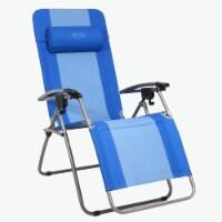 Kamp-Rite Outdoor Camping Beach Patio Sports Anti Gravity Folding Chair, Blue - 1 Unit