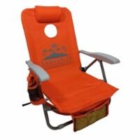 Kamp-Rite SAC-IT-UP Folding Lounge Lawn Cornhole Backpack Beach Chair, Orange - 1 Piece