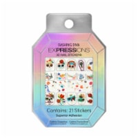 Dashing Diva Expressions Ultra Shine Gel Palette Sugar Skull Celebration 3D Nail Stickers 21 Count - 21 ct