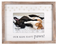 Malden Our Kids Have Paws Rustic Border Picture Frame - 4 x 6 in