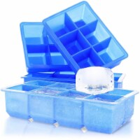 4-Set Silicone Giant Ice Mold Ice Cube Tray BPA-Free for Scotch Whiskey Cocktail - Pack