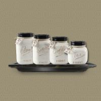 White Mason Jar Cannister Set