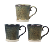 Stoneware 16oz. Mugs, 6 piece Set