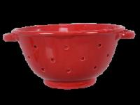 Ceramic Red Colander