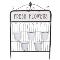 Fresh Flowers Metal Five Pot Hanging Planter