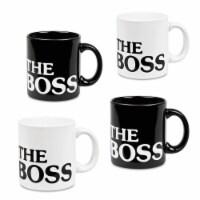 Waechtersbach 01 S 6MG 8182 The Boss Mugs, Black & White - Set of 6