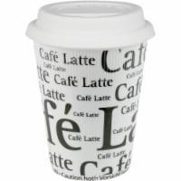 Konitz 44 5 162 0647 Cafe Latte Writing on Travel Mugs, White - Set of 4 - 4