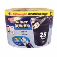 Pocket Hose Silver Bullet 3/4 in. Dia. x 25 ft. L Expanding Black Fabric Garden Hose - Case - Count of: 1
