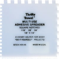 Thrifty Trowel Square Notch Adhesive Spreader plastic disposable 36ct - 1 pack each