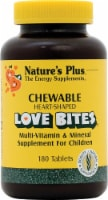 Nature's Plus Love Bites Children's Chewable Multi-Vitamin and Mineral Tablets 180 Count